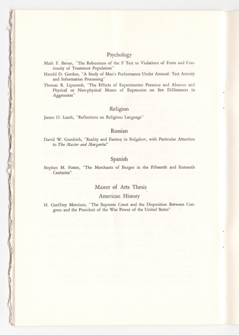 Amherst College Commencement program, 1972 June 2