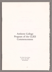 Amherst College Commencement program, 1983 May 29
