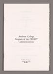Amherst College Commencement program, 1995 May 28