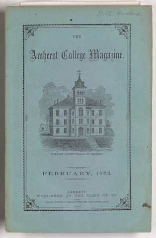 Amherst College magazine, 1862 February