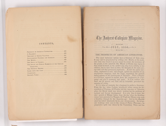 Amherst collegiate magazine, 1856 July