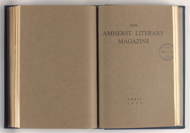 Amherst literary magazine, 1929 April
