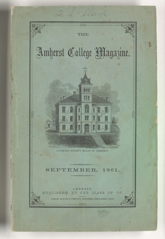 Amherst College magazine, 1861 September