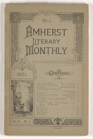 Amherst literary monthly, 1894 May