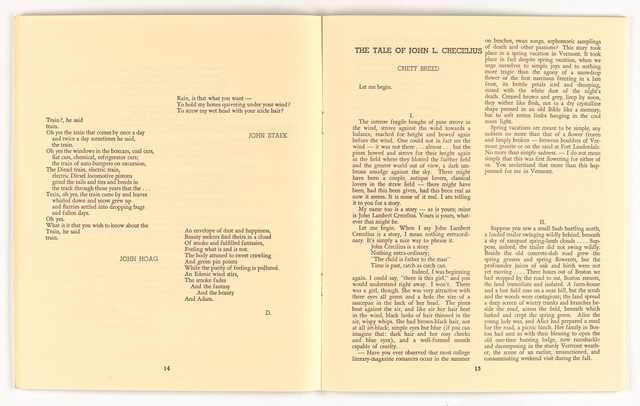 Amherst literary magazine, 1969 winter