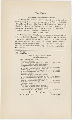 Amherst literary monthly, 1892 April