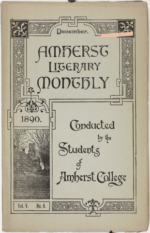 Amherst literary monthly, 1890 December