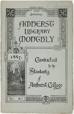 Amherst literary monthly, 1887 January