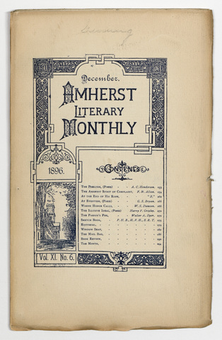 Amherst literary monthly, 1896 December