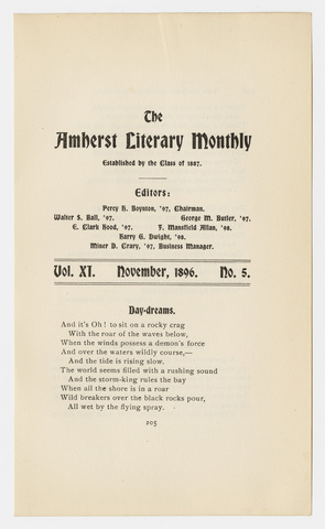 Amherst literary monthly, 1896 November