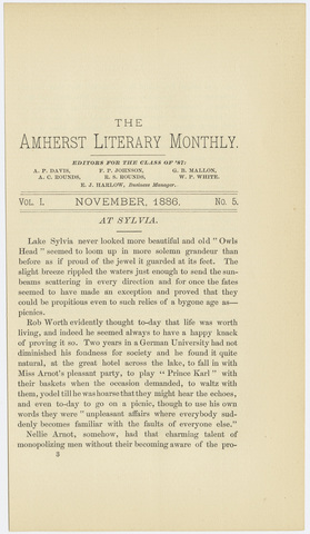 Amherst literary monthly, 1886 November