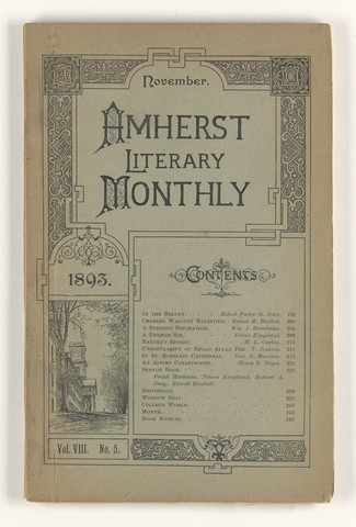 Amherst literary monthly, 1893 November