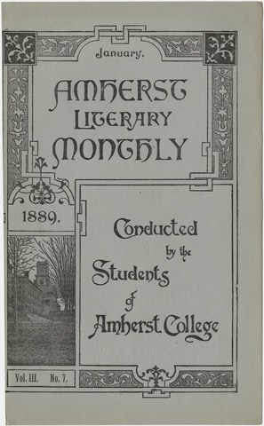 Amherst literary monthly, 1889 January