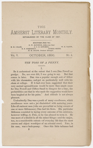 Amherst literary monthly, 1890 October