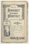The Amherst literary monthly, 1895 February
