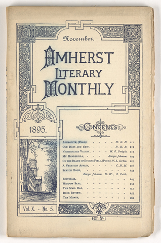 Amherst literary monthly, 1895 November