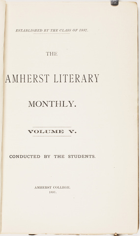Amherst literary monthly, 1891 March