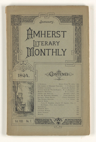 Amherst literary monthly, 1894 January