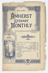 The Amherst literary monthly, 1894 November
