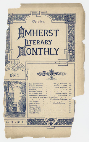 Amherst literary monthly, 1894 October
