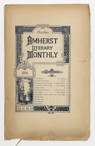 Amherst literary monthly, 1896 October
