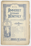The Amherst literary monthly, 1895 January