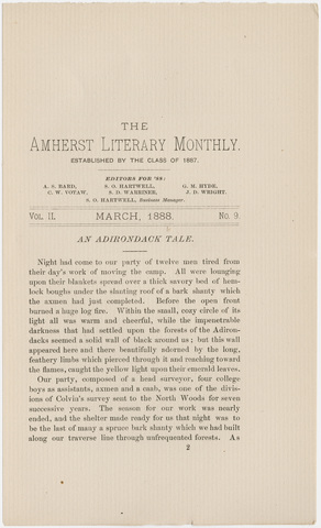 Amherst literary monthly, 1888 March