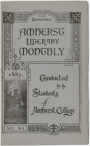 Amherst literary monthly, 1887 December