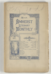 The Amherst literary monthly, 1897 March