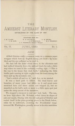 Amherst literary monthly, 1889 June