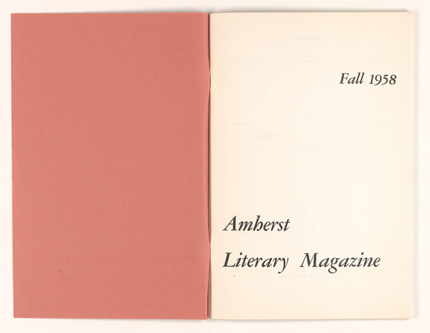 Amherst literary magazine, 1958 fall