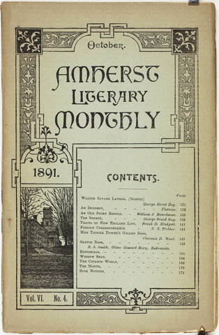 Amherst literary monthly, 1891 October