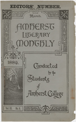 Amherst literary monthly, 1889 March