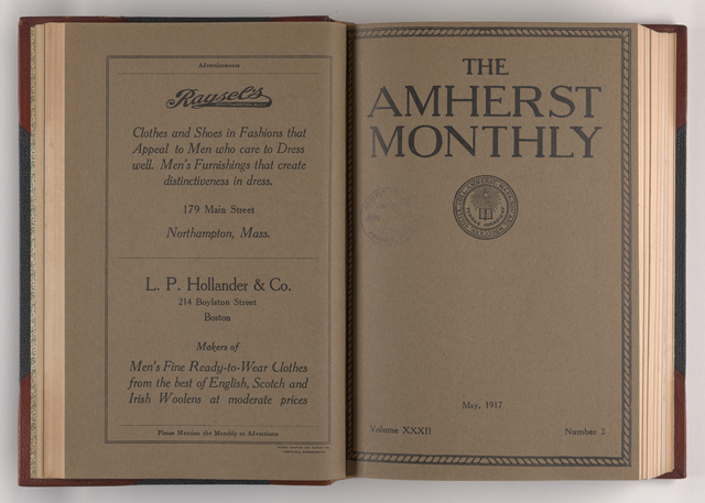 Amherst monthly, 1917 May