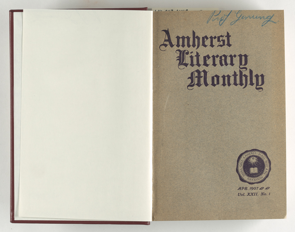 Amherst literary monthly, 1907 April