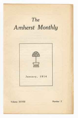Amherst monthly, 1914 January