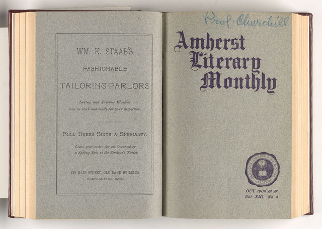 Amherst literary monthly, 1906 October
