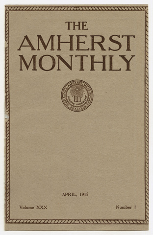 Amherst monthly, 1915 April