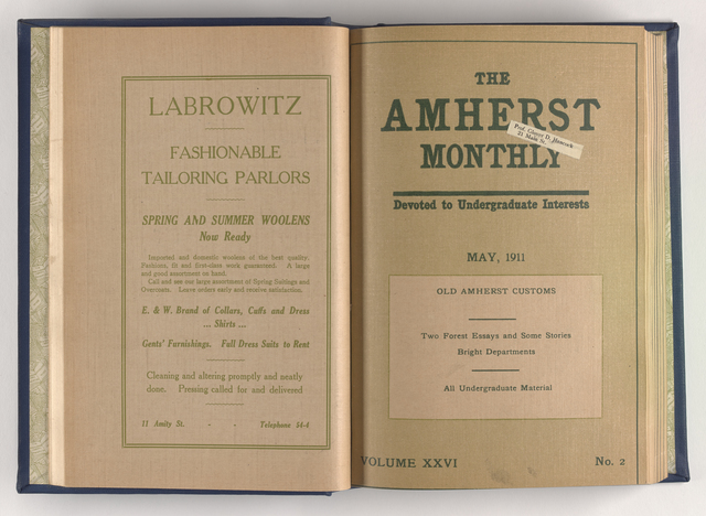 Amherst monthly, 1911 May