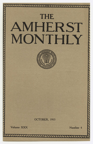 Amherst monthly, 1915 October