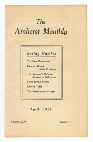 Amherst monthly, 1914 April