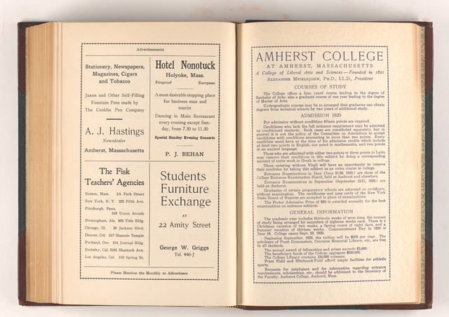 Amherst monthly, 1920 April