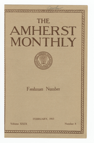 Amherst monthly, 1915 February