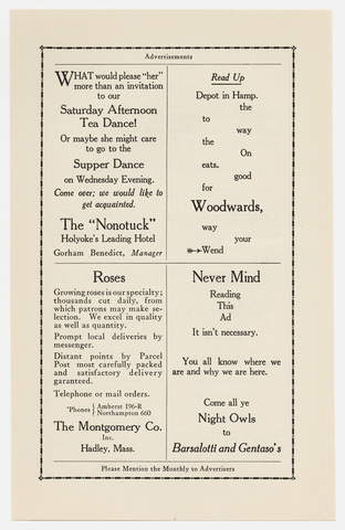 Amherst monthly, 1916 March
