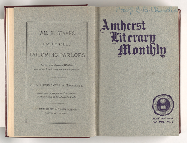 Amherst literary monthly, 1906 May