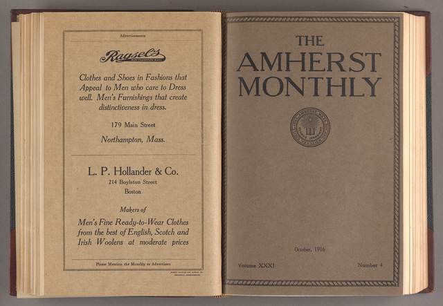 Amherst monthly, 1916 October