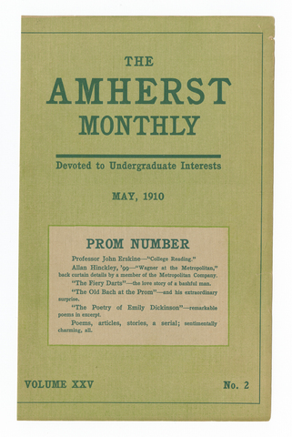 Amherst monthly, 1910 May