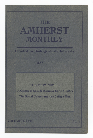 Amherst monthly, 1912 May