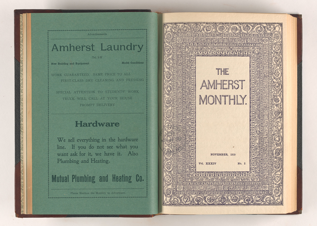 Amherst monthly, 1919 November