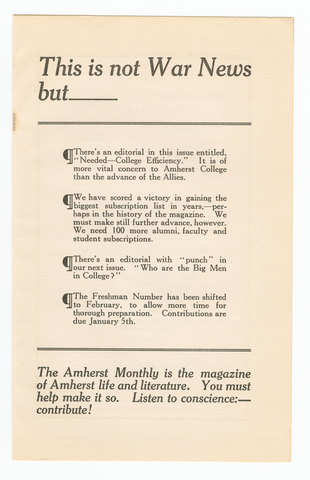 Amherst monthly, 1914 December